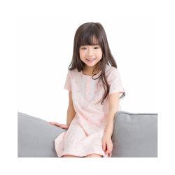 卡伴女童纯棉夏季短袖睡裙 阑珊粉(包邮)