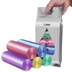 金雅涵 30只*5卷垃圾袋家用加厚一次性彩色拉圾塑料袋中号45*50CM