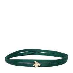APM MONACO 女士金黄色银镶晶钻蜜蜂绿色缎带项圈手链两用 AC3693GXY