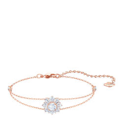 Swarovski 施华洛世奇 女士玫瑰金色镶太阳图案手链