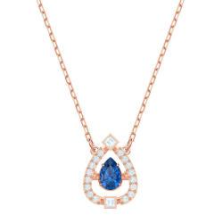 Swarovski 施华洛世奇 女士玫瑰金设计缀梨形蓝水晶项链 5465281