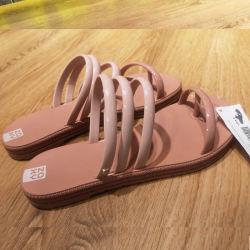 Zaxy 甜美风拼色沙滩凉拖果冻鞋  尺码可选