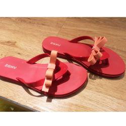 Zaxy 蝴蝶结撞色夹脚沙滩凉拖果冻鞋  尺码可选