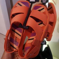 Zaxy 舒适软底防滑沙滩凉鞋果冻鞋  橘色 尺码可选