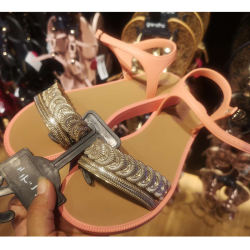 巴西Grendha 甜美风拼色简约凉鞋果冻鞋 多色  尺码可选