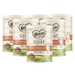 6罐澳洲直邮【包邮包税】Karicare可瑞康羊奶粉1段  900g*6罐 0-6个月
