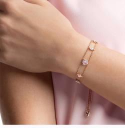 Swarovski 施华洛世奇 女士的玫瑰金色手链 5446304