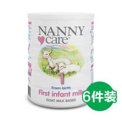 【包邮包税】6罐 英国Nanny Care 婴儿羊奶粉 1段 0-12个月 900gX6