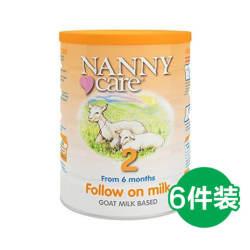 【包邮包税】6罐 英国Nanny Care 婴儿羊奶粉 2段 6-12个月 900gX6