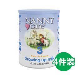 【包邮包税】4罐 英国Nanny Care 婴儿羊奶粉 3段 1-3岁 900gX4
