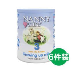 【包邮包税】6罐 英国Nanny Care 婴儿羊奶粉 3段 1-3岁 900gX6
