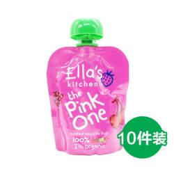 【包邮包税】10件装 Ella's Kitchen艾拉厨房 有机粉色果泥 90gX10