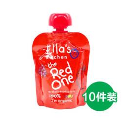 【重庆保税】【包邮包税】10件装 Ella's Kitchen艾拉厨房婴幼儿有机红色果泥 6个月以上宝宝适用 90gX10【特价促销,数量有限,售完即止】