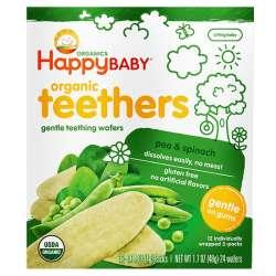 【4件装】Happy Baby 禧贝 豌豆菠菜磨牙棒饼干  48g