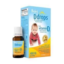 【6件装】Ddrops 宝宝维生素D3滴剂400IU(90滴)2.5ml