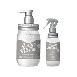 AMINO MASON 氨基酸顺滑无硅油清爽型洗发水450ML+营养水喷雾200ML  组合装