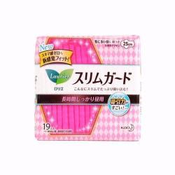 LAURÍER/乐而雅 超薄瞬吸卫生巾 日用 带护翼 粉色  25CM*19片