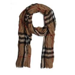 BURBERRY/巴宝莉 HERITAGE褶皱格纹羊绒围巾 3924752