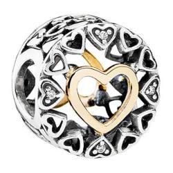 PANDORA/潘多拉 爱之圆串珠( 14K金与925银)  792009CZ