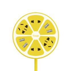 TROZK/特洛克 柠萌U站创意柠檬插排USB多功能智能插座   多色可选