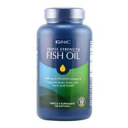 GNC/健安喜 三倍浓缩鱼油高含量软胶囊   120粒