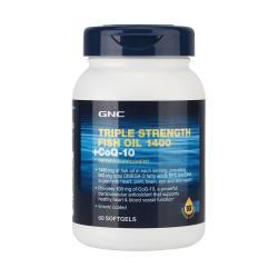 GNC/健安喜 三倍浓缩深海鱼油+辅酶Q10软胶囊  60粒